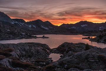 sunset over lake 11388