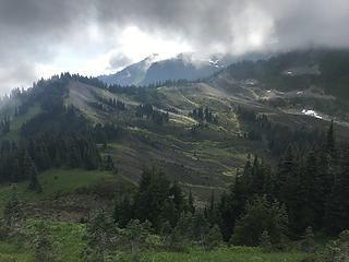 The final stretch, beyond that last ridge is Church meadows