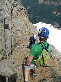 dirty ledge on the east face