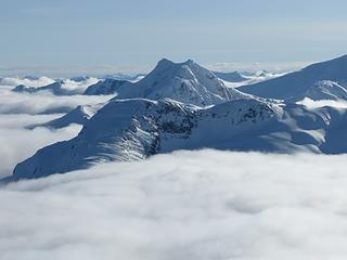 Whatcom Peak rises above the clouds