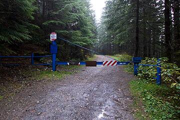 "Here's a photo of the gate. The ""parking"" is just a wide spot left of the road before the gate. Yes, you can legally park here and hike up the CCC road. Don't forget your Discover Pass."