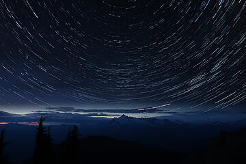 Star trails over Shuksan