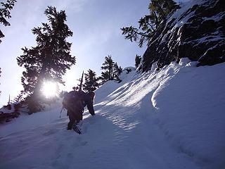 regaining the ridge to Quartz