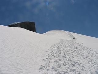 Climbing up near the top