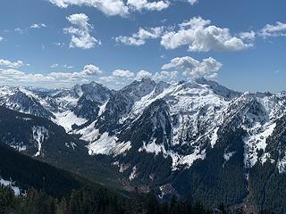 Views of Merchant and Gunn from Iron Peak.