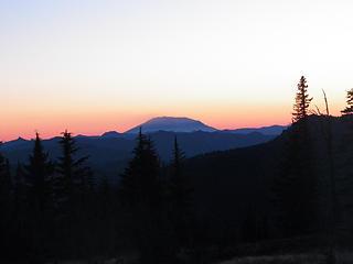 Sunset over Mt St Helens