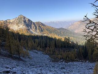 On our way up the trail to Baldy saddle
