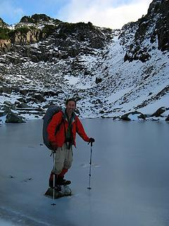 Standing in a frozen tarn