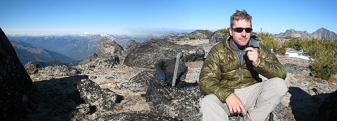 GeoTom enjoys his summit soup