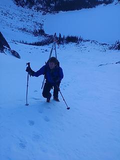 Climbing up to Asgard Pass
