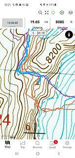 Bivy spot on map
