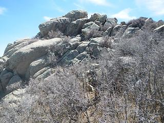 summit with upper ledge visible