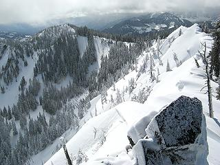 The Ridge of Adventure, with the Icy Rock of Foreshadowing