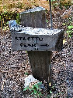 Stiletto Spur Trail junction