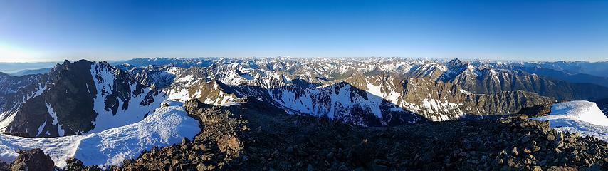 North Gardner summit panorama