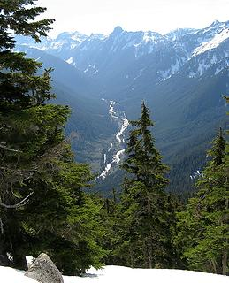 Looking back down at the Middle Fork