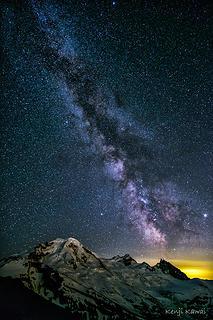 Milky Way, Jupiter, Saturn over Baker
