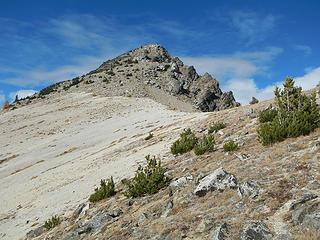 pumice below the summit