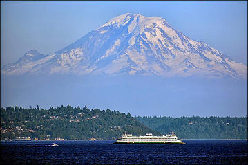 Mount Rainier from the Seattle-Bainbridge ferry