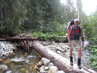 Yukon222 at the creek crossing