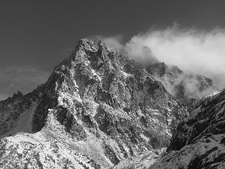 Mount Stuart black and white