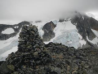 Parkhurst summit with Wedge in the clouds