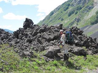Inspecting Lava field