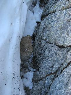 The 18-inch rock that accompanied me down.