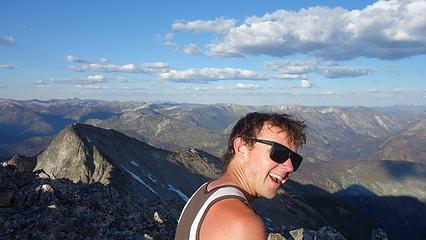 Josh on summit of Lost