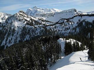 Tracks on the ridge to Barometer