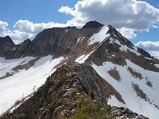 Traversing to Shellrock Pass