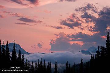 Sunset over Livingston Range