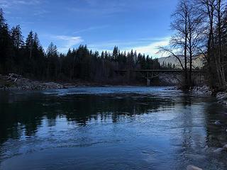 Skykomish River at Big Eddy Park 1/26/19