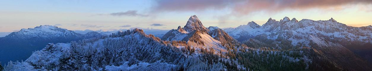 Kendall Peak Sunrise Panorama
