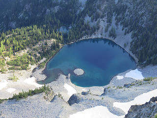 Upper and Lower Dee Dee Lake from McAlester summit.