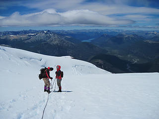 Layla and bene on the way down