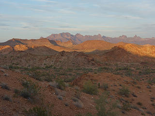 sunset on Signal; Kofa Wilderness, Kofa NWR, AZ