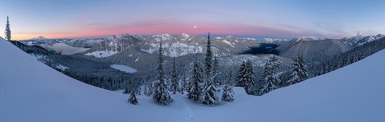 Dawn Panorama - West Granite West Ridge