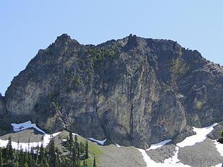 Cliffs above Upper Crystal Lake.