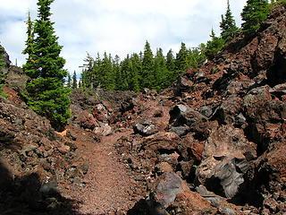 Lava flow traverse