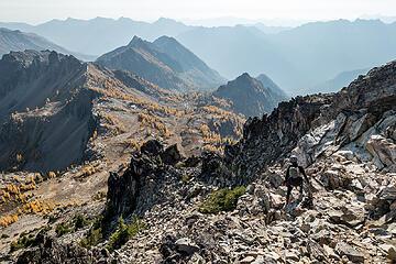 descending pinnacle