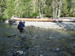 Crossing the North Fork Quinault