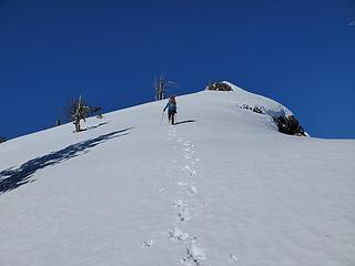 Cramponing up to Malcolm