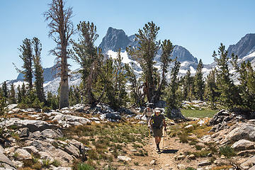 Crossing Island Pass on JMT