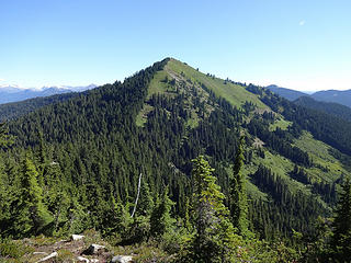Jove Peak with its green coat.