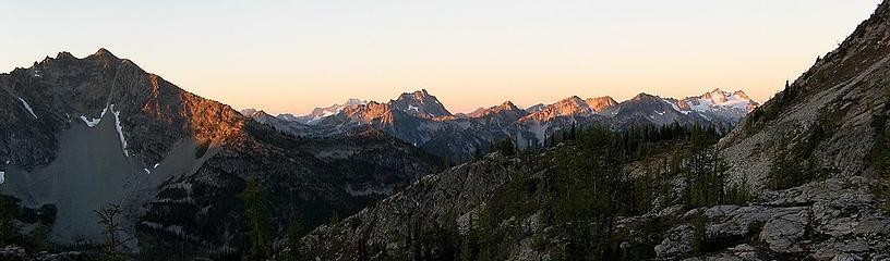 Morning alpenglow (Hock, McAlester, McGregor, etc)