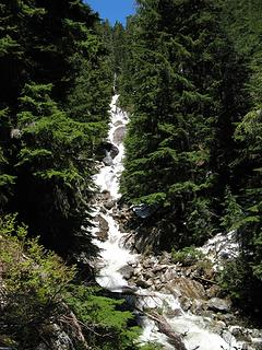 Waterfall on north fork of Otter Creek