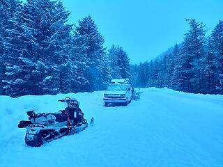Starting at Early Winters Campground