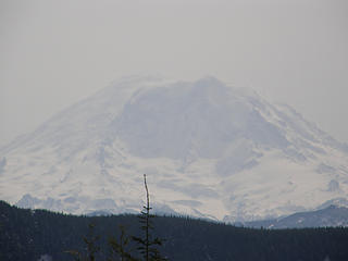 Rainier zoomed in from near rattlesnake 1st clearing.