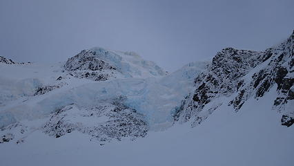 Icefalls on the south face of Dixon